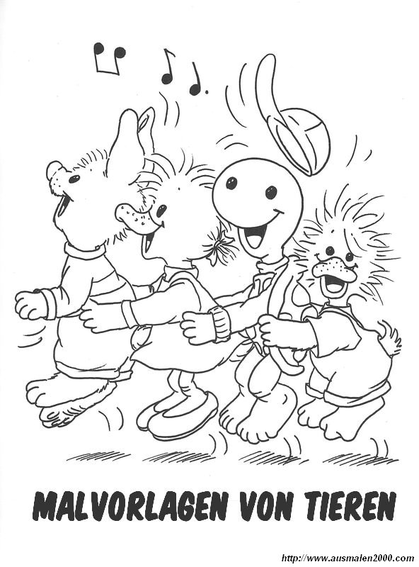 ausmalbild tiere bauernhof - cartoon-bild