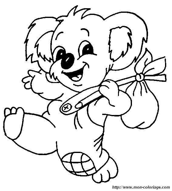 ausmalbilder verschiedene tiere  bild koala 8