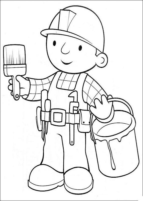 Handwerker ausmalbilder  Ausmalbilder Bob der Baumeister, bild Dies ist ein Handwerker