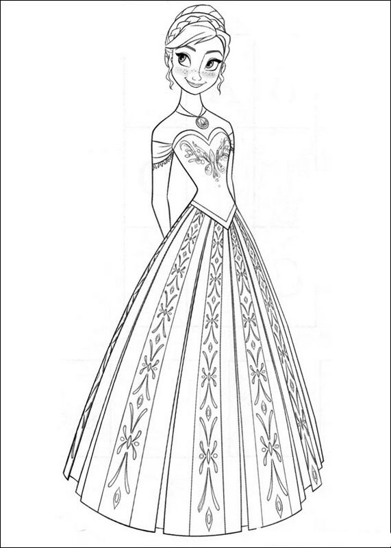 Ausmalbilder Die Eiskonigin Frozen Bild Anna Kleine Prinzessin