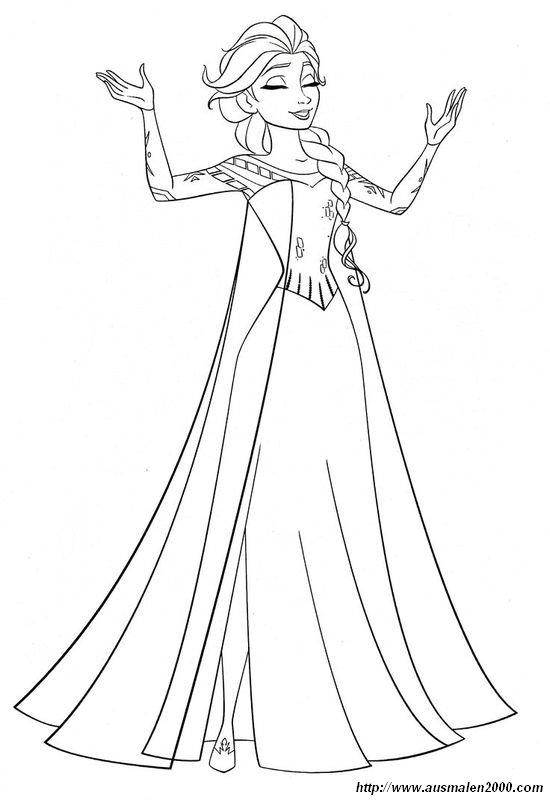 ausmalbilder die eiskönigin - frozen, bild elsa die