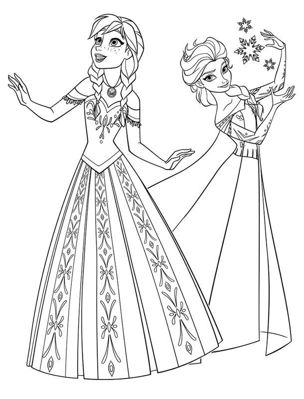 Ausmalbilder Die Eiskonigin Frozen Bild Walt Disney Frozen