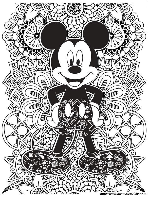 Ausmalbilder Für Erwachsene Bild Damals Gab Es Walt Disney Und Auch