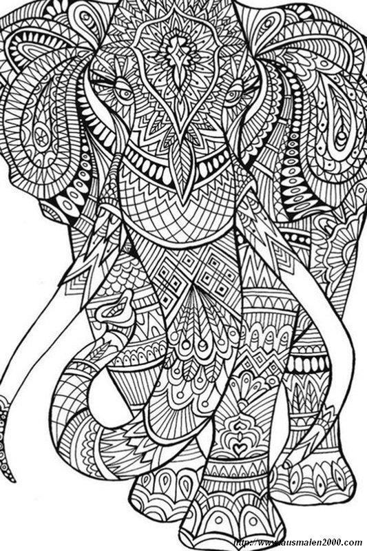 Ausmalbilder Für Erwachsene Bild Ein Mammut Oder Ein Elefant