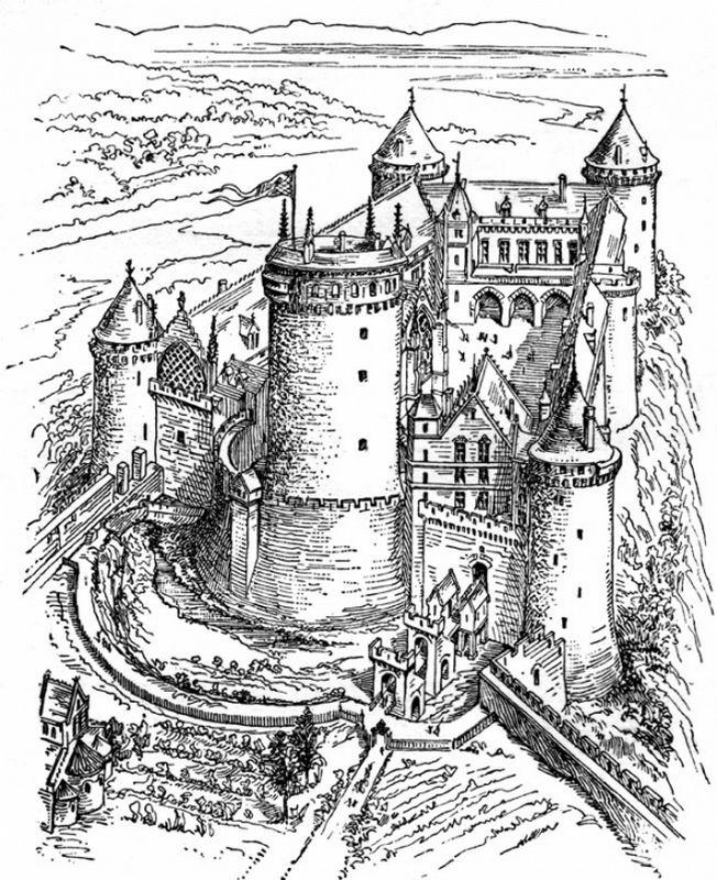 Ausmalbilder Für Erwachsene Bild Eine Grosse Burg Zum Ausmalen Jpeg