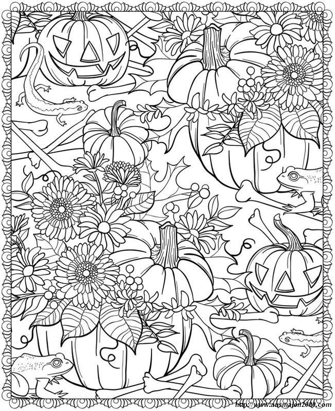 Halloween Coloring Pages Advanced : Ausmalbilder f�r erwachsene bild