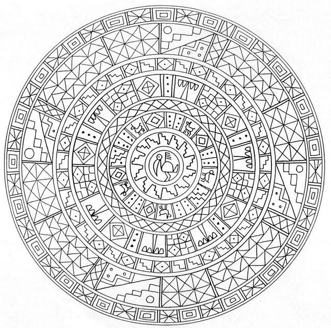 Ausmalbilder F r Erwachsene bild Mandala von Mexiko