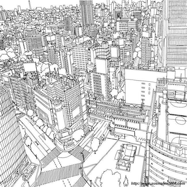Ausmalbilder Für Erwachsene Stadt ~ Die Beste Idee Zum Ausmalen