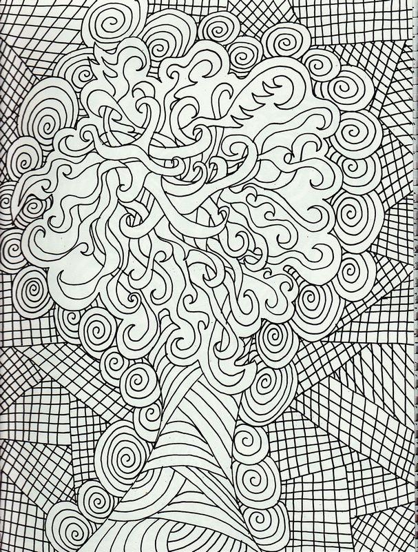 Ausmalbilder Für Erwachsene Bild Wie Ein Baum