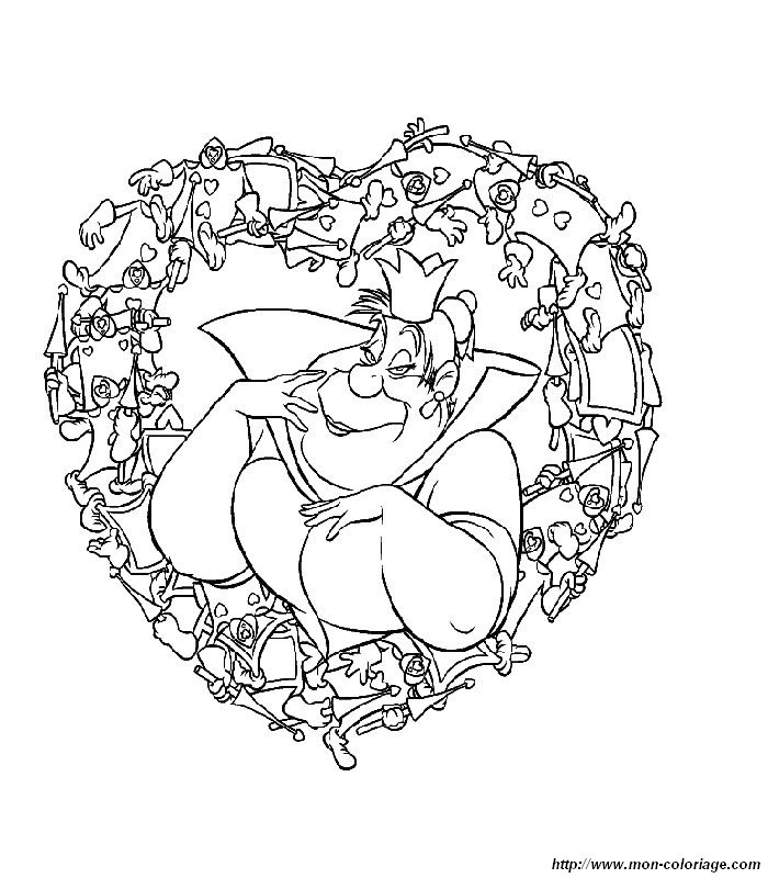 Ausmalbilder Alice im Wunderland, bild alice im wunderland