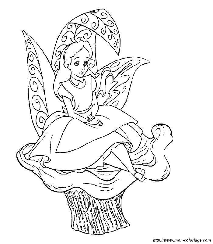 Ausmalbilder Alice im Wunderland, bild malvorlagen alice im wunderland