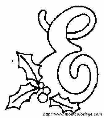 Ausmalbilder Weihnachten Alphabet Bild Buchstaben E