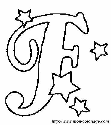 Ausmalbilder Weihnachten Alphabet, bild Buchstaben F