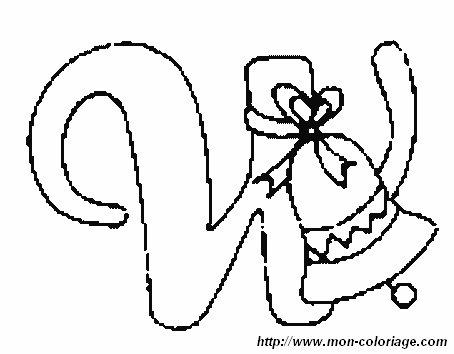 Ausmalbilder Weihnachten Alphabet Bild Buchstaben W
