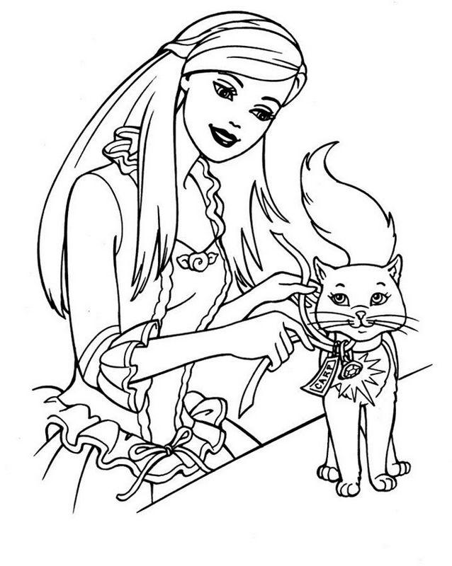 Ausmalbilder Barbie Bild Barbie Liebt Seine Katze