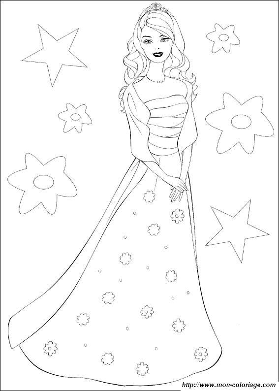 Ausmalbilder Barbie Bild Hubsches Kleid Barbie