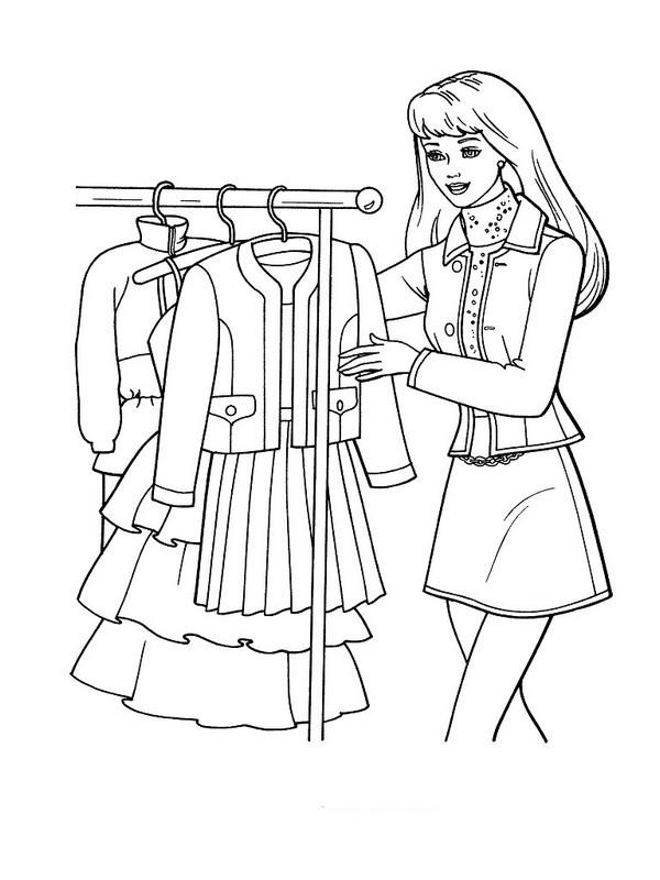 ausmalbilder barbie bild sie hat schone kleider