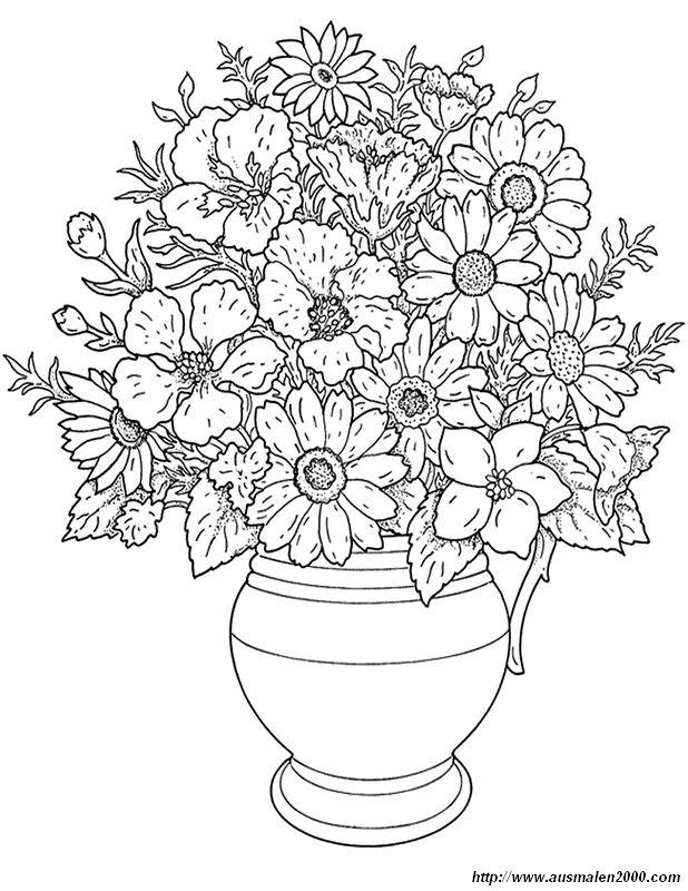 Ausmalbilder Blumen Bild Blumen Ausmalbilder Fur Erwachsene