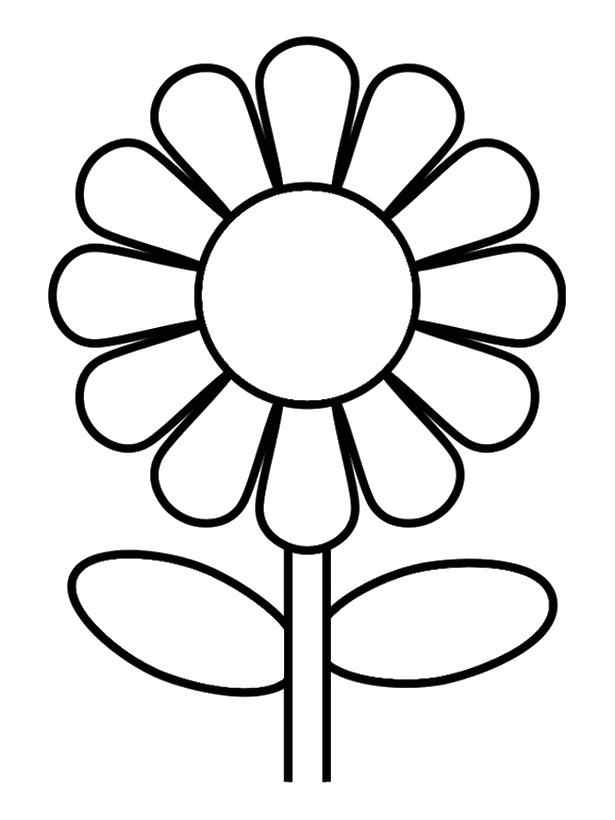Großartig Einfache Blume Malseite Fotos - Ideen färben - blsbooks.com