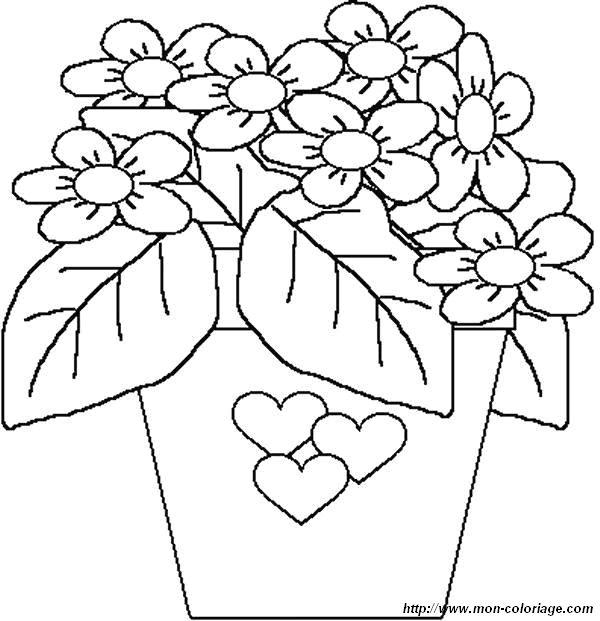 Ausmalbilder Blumen Bild Blumen 45