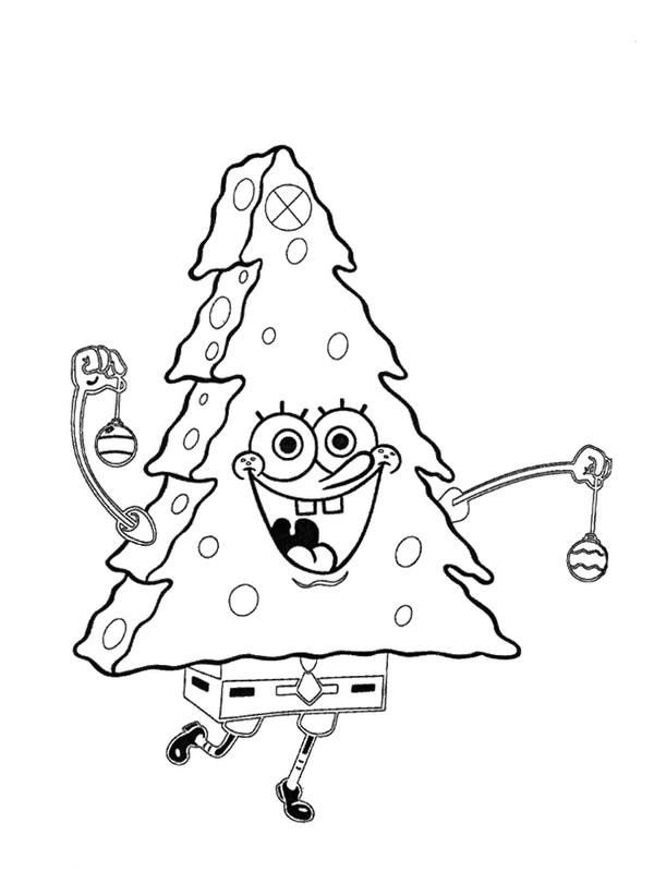 ausmalbilder spongebob schwammkopf bild weihnachtsbaum. Black Bedroom Furniture Sets. Home Design Ideas