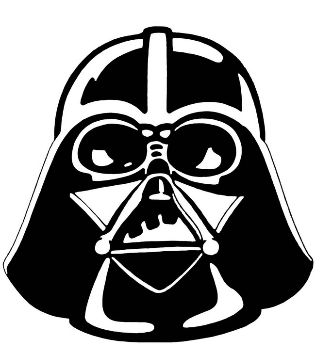 Ausmalbilder Karneval Bild Darth Vader Maske
