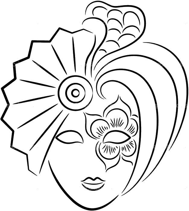 Ausmalbilder Karneval Bild Karneval Maske