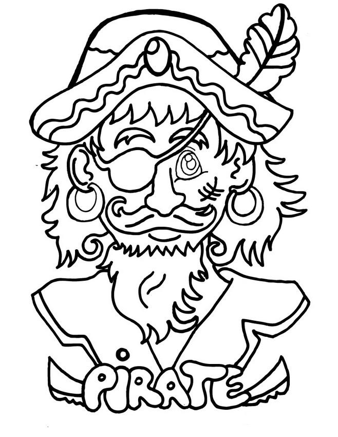 Ausmalbilder Karneval, bild Karneval Pirat