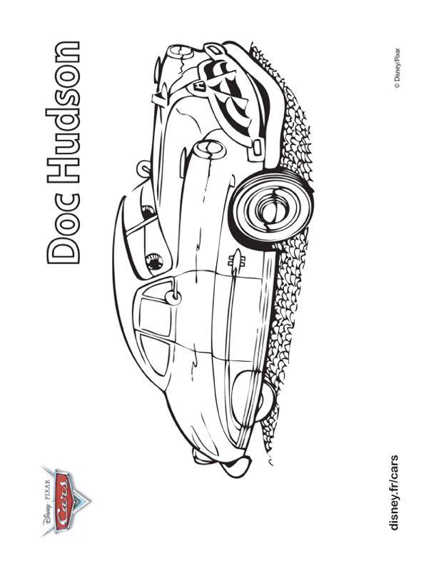 Ausmalbilder Cars Bild Doc Hudson Der Auto Doktor
