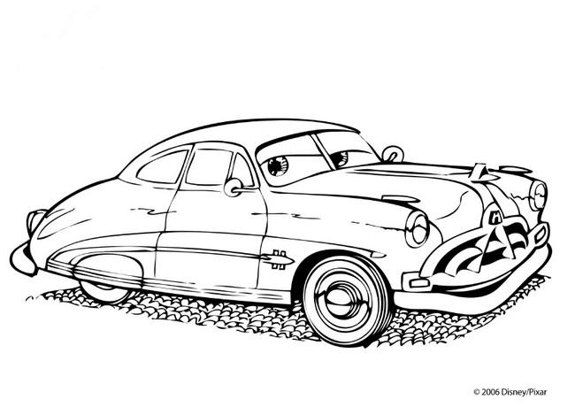 Ausmalbilder Cars Bild Doc Hudson Richter Und Arzt