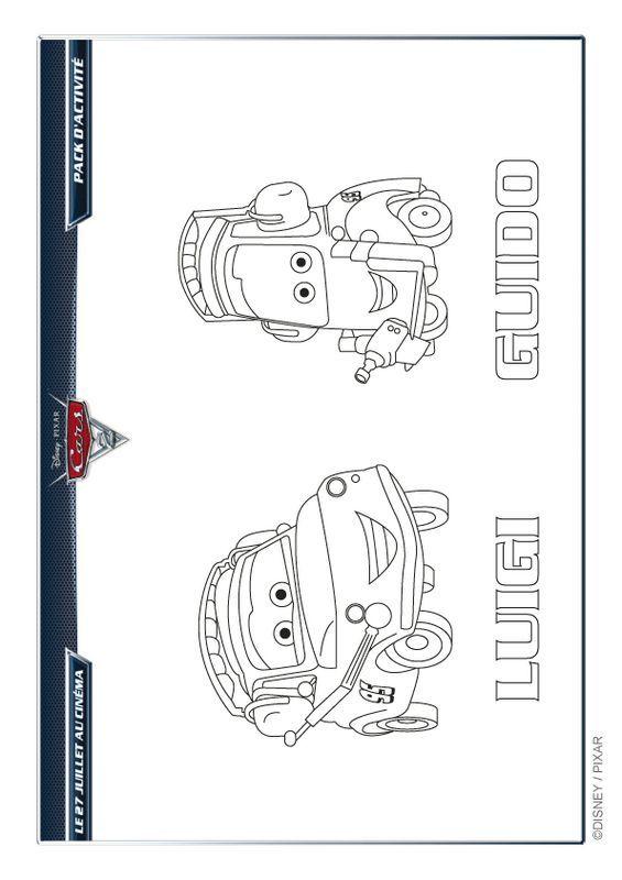 Ausmalbilder Cars Bild Guido Und Luigi