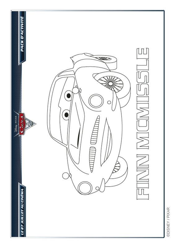 Ausmalbilder Cars Bild Metallicblauer Finn Mcmissile