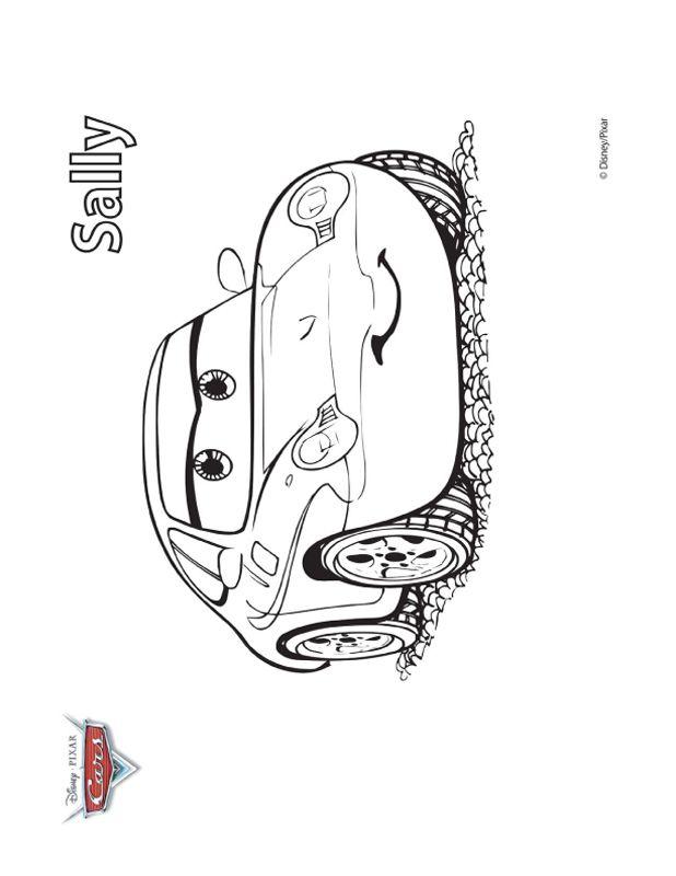 Ausmalbilder Cars Bild Sally Grosse Liebe