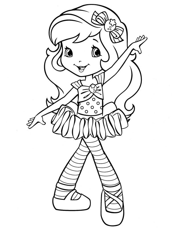 Ausmalbilder Emily Erdbeer Bild Kleine Ballerina