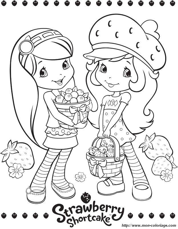 ausmalbilder emily erdbeer bild mit ihrer freundin