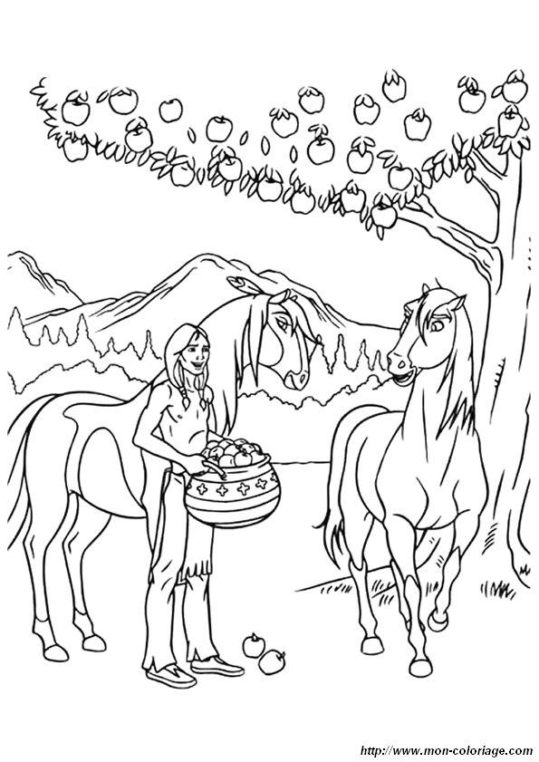 ausmalbilder pferde bild 3220