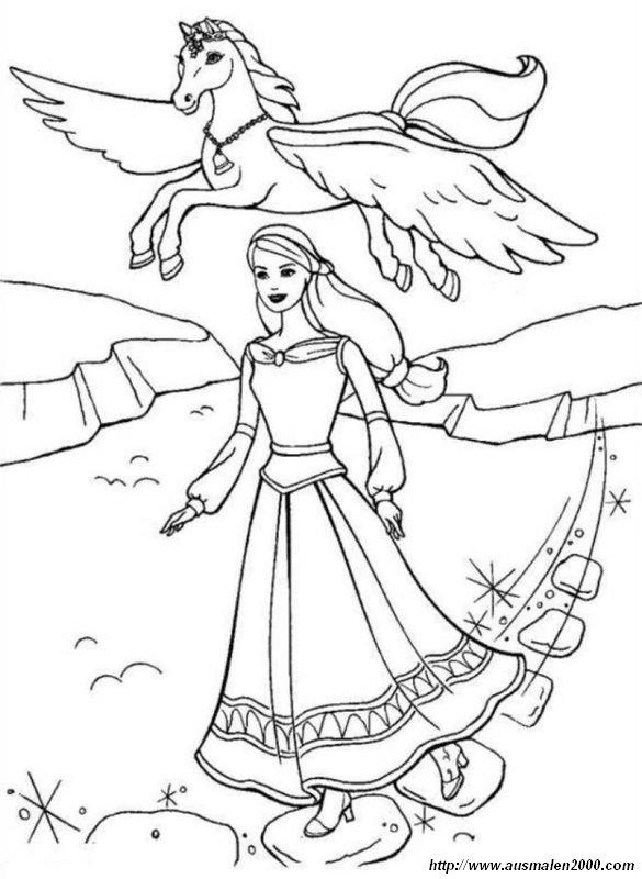 Malvorlagen Barbie Pegasus Malvorlagencr