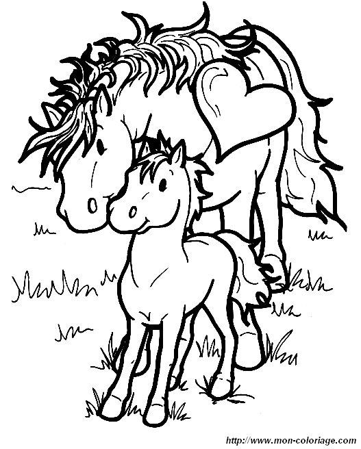 Ausmalbilder Pferde, bild pferd 006