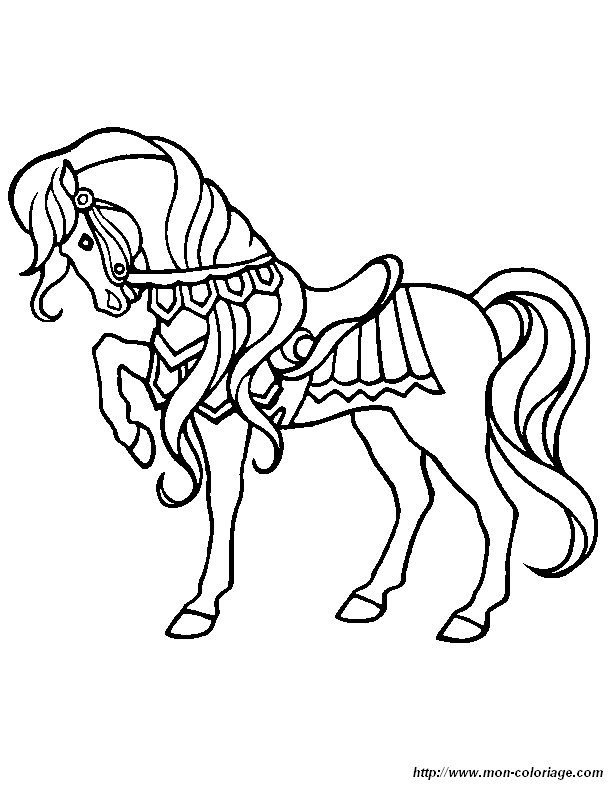 ausmalbilder pferde bild pferd 1