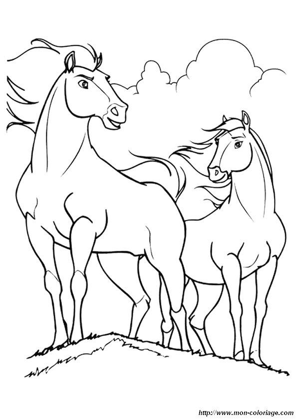 Ausmalbilder Pferde Bild Spirit