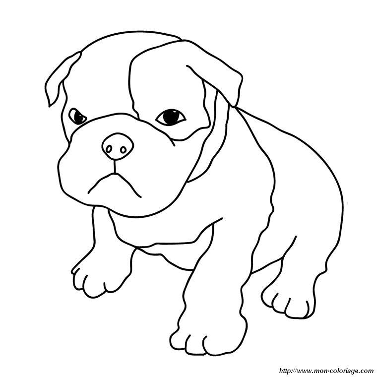 Ausmalbilder hund bild boxer welpe - Boxer chien dessin ...
