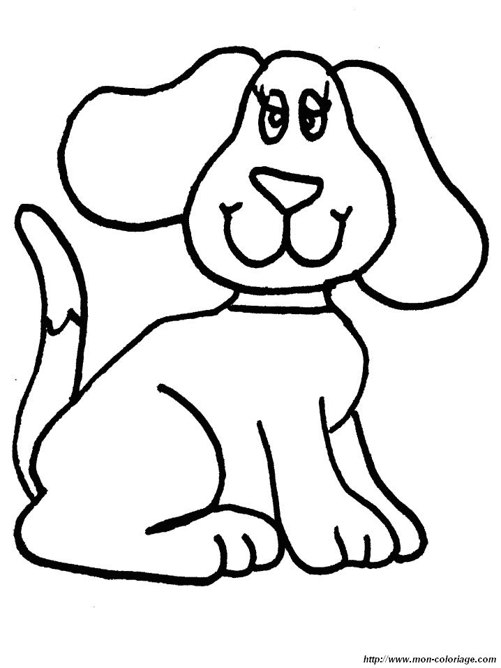 Ausmalbilder hund bild hund 02 for Black and white coloring pages of dogs