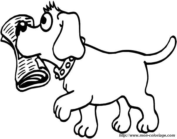 Ausmalbilder hund bild hund 1 for Cane disegno facile