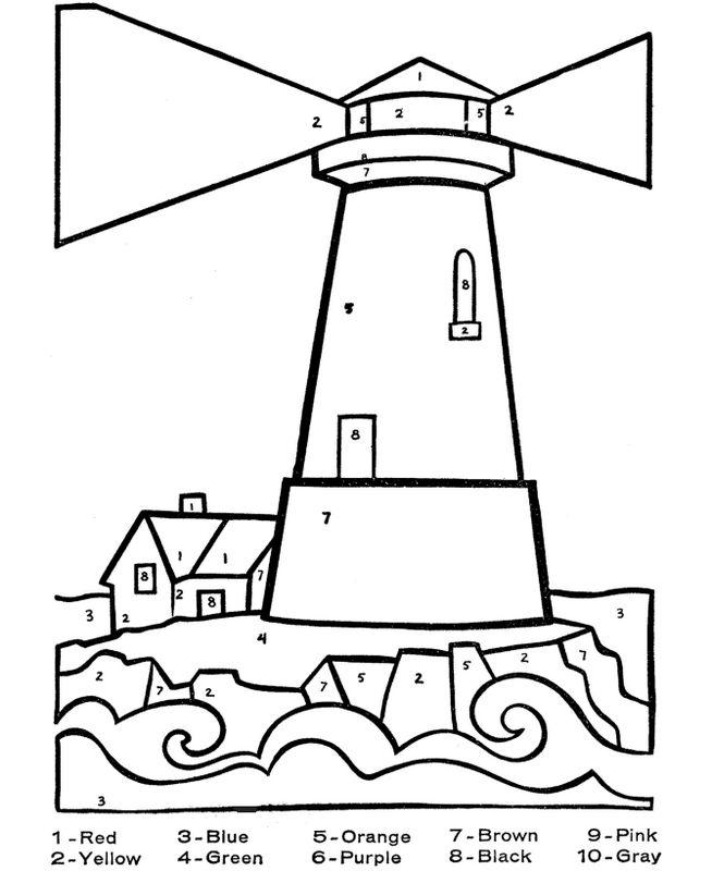 leuchtturm zum ausmalen  vorlagen zum ausmalen gratis