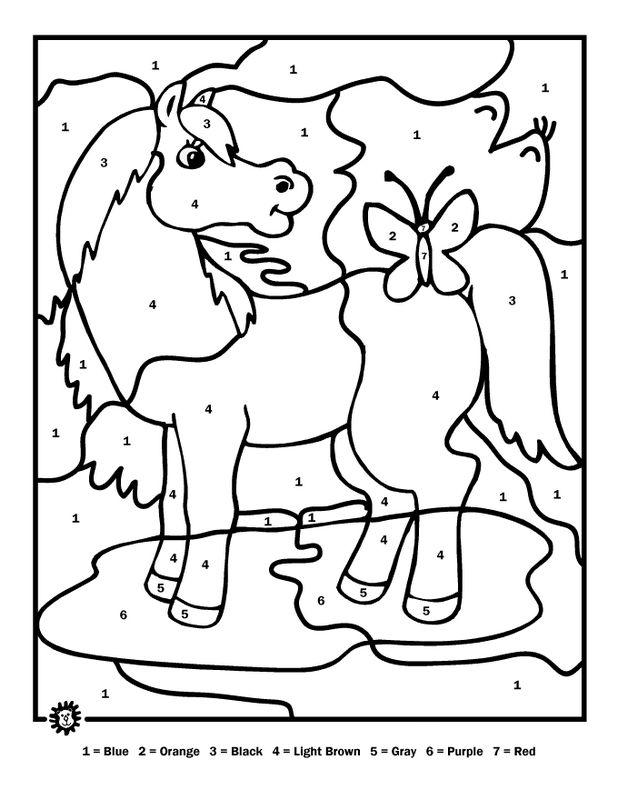 malen nach zahlen ausdrucken pferde