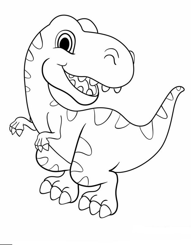 Ausmalbilder Dinosaurier Bild Ist Es Ein Grosser Oder Ein Kleiner Dinosaurier