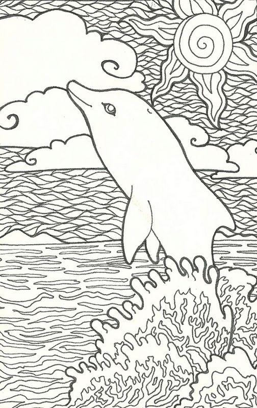 Ausmalbilder Delfin, bild Delfine Ausmalbilder fur Erwachsene