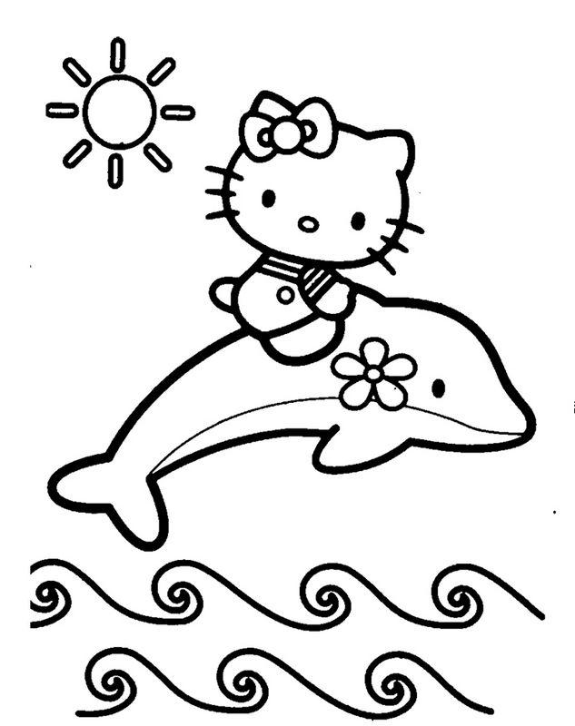 Ausmalbilder Delfin Bild Hello Kitty Zum Ausmalen