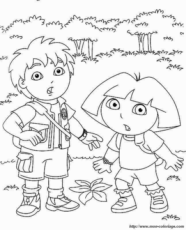 Ausgezeichnet Malvorlagen Dora Und Diego Fotos - Entry Level Resume ...