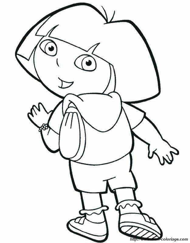 Rucksack ausmalbild  Ausmalbilder Dora die Forscherin, bild rucksack backpack